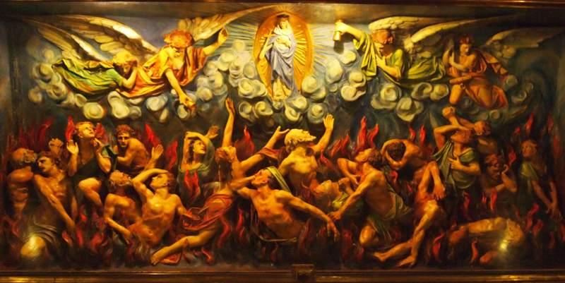 Coronilla por las almas del Purgatorio